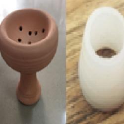clay hookah bowl \ head grommets
