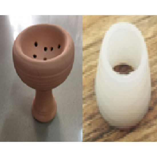 clay hookah bowl \ head grommets