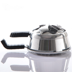 Hookah Bowl Heat Management System - Silver Two Handle