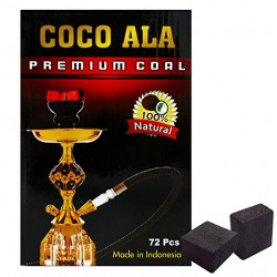 Coco Ala ( 72 Pcs ) Charcoal 100% Natural Coconut Hookah