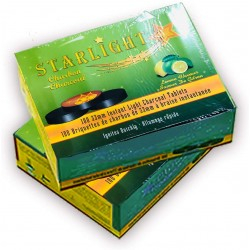 Starlight Charcoal, 33mm Instant Light Charcoal Tablets (Lemon)