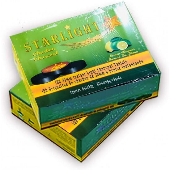 Starlight Charcoal, 33mm Instant Light Charcoal Tablets (Lemon)
