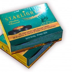 Starlight Charcoal, 33mm Instant Light Charcoal Tablets (Mint)
