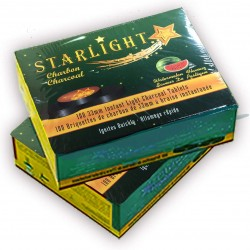 Starlight Charcoal, 33mm Instant Light Charcoal Tablets (Watermelon)