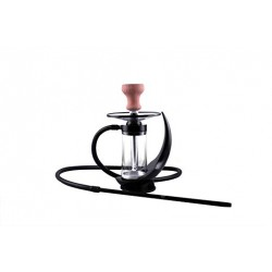 Modern Style 1 Silicon Hose Hookah with Bowl (Black)